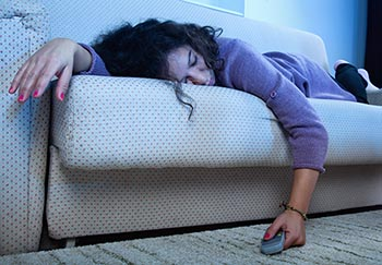 sleeping on the couch can cause the pins-and-needles feeling